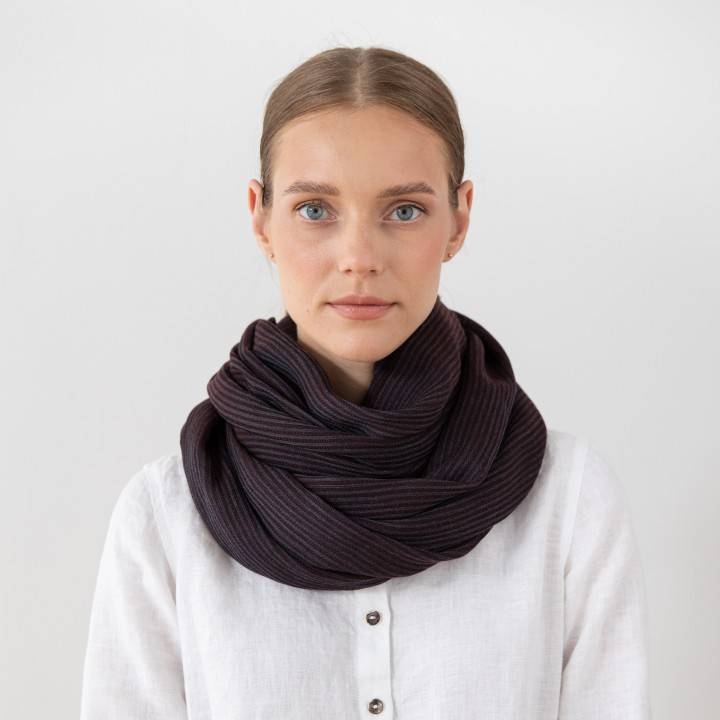 Brown Wolle Schal Fabiene
